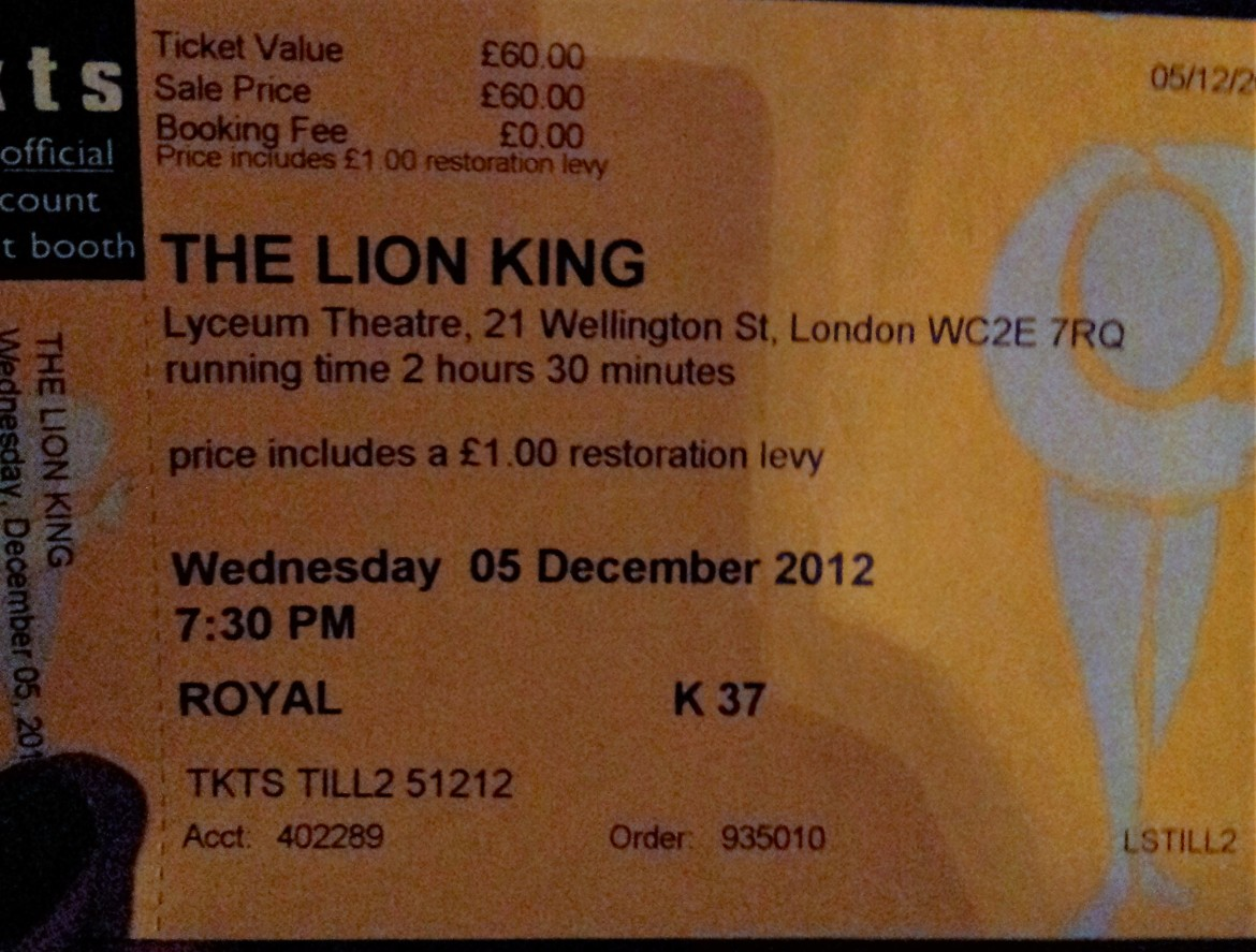 Londres - The Lion King (3)