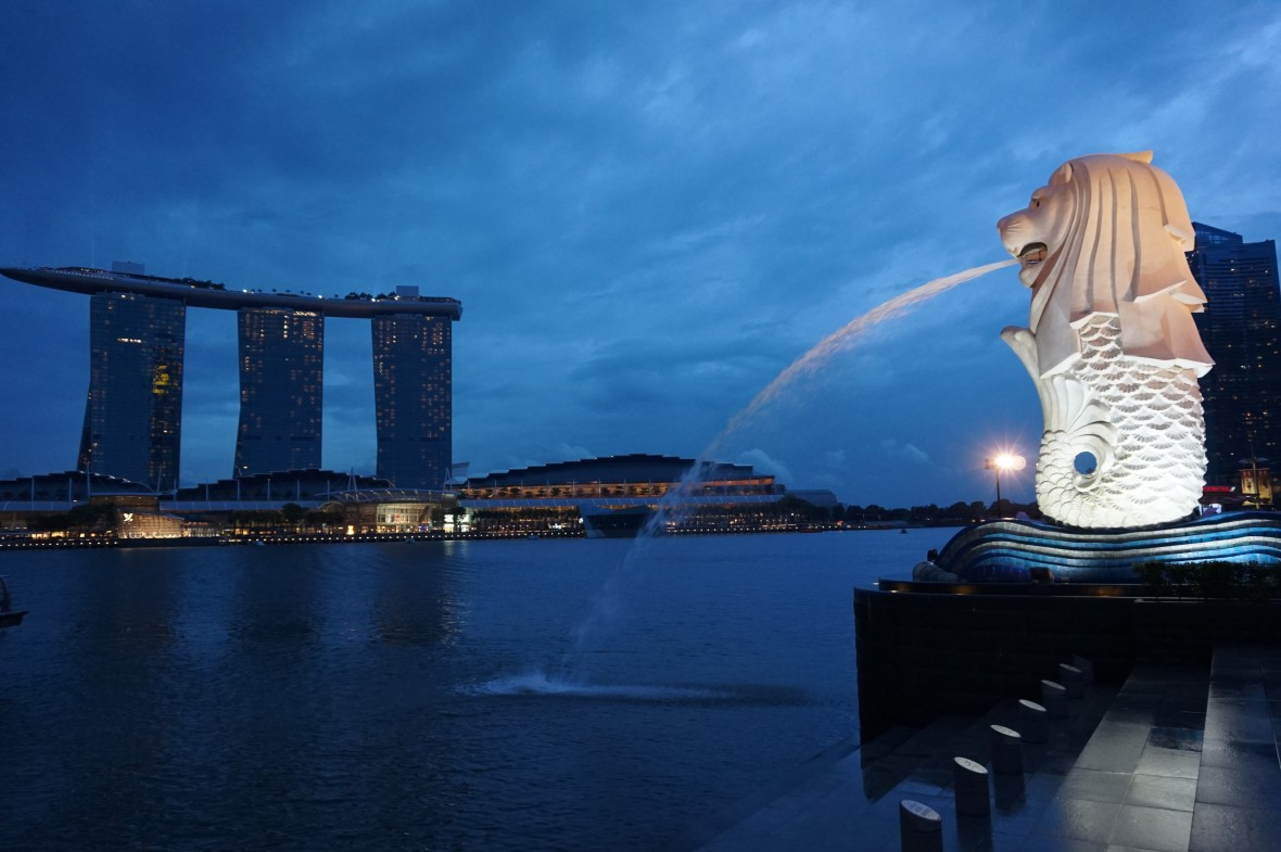 Singapour - Marina Bay Night (2)